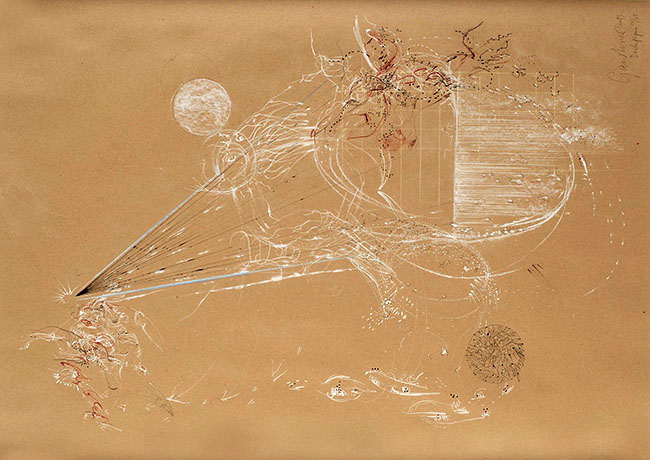Nikolaus Gansterer, Denkfigur (Figure of Thought ) 13-105, 2013 chalk, pencil and ink on paper, 80 x 60 cm