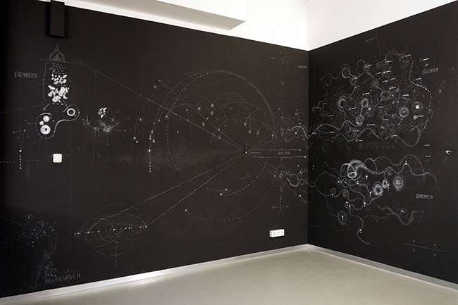 The Gray Matter Hypothesis, walldrawing, installation view, 2013