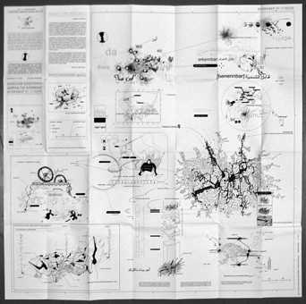 Nikolaus Gansterer, Mykromap: Mapping the Difference, city map, 2003, limited edition