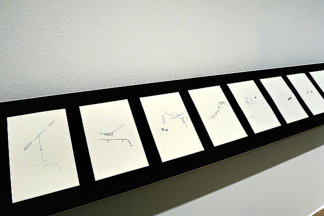 Nikolaus Gansterer, Training / AmZug, a series of various sketchbooks, installation view, Kunstraum Niederösterreich, Vienna, 2012