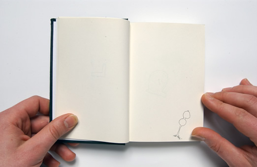 Nikolaus Gansterer, Training / AmZug, a series of various sketchbooks, since 2002