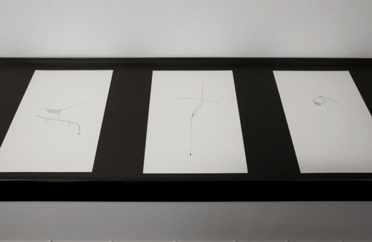 Nikolaus Gansterer, Training / AmZug, a series of various sketchbooks, installation view, MHKA, Antwerp, 2011