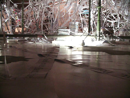Detail: Installation view, Kunsthalle Vienna, 2005.