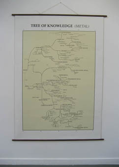 Wall map 2: The tree of knowledge (Metal).A geneology of metal music. (160 x 220cm)