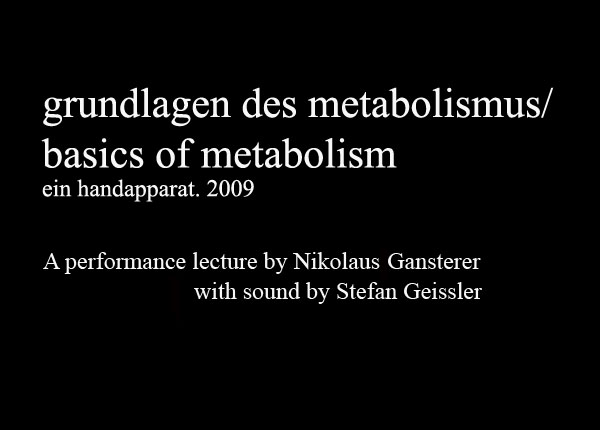 Watch Video: Grundlagen des Metabolismus I. Ein Handapparat (2009)