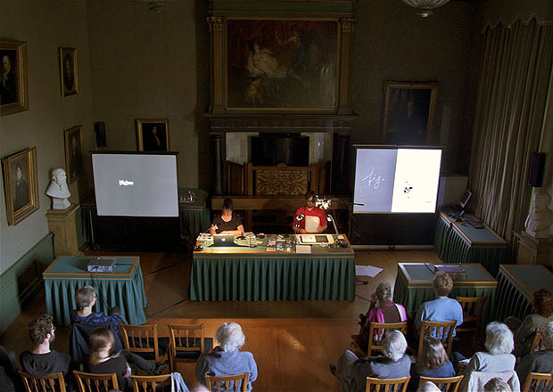 Drawing on Drawing a Hypothesis - Performance Lecture at KNAW, Amsterdam 