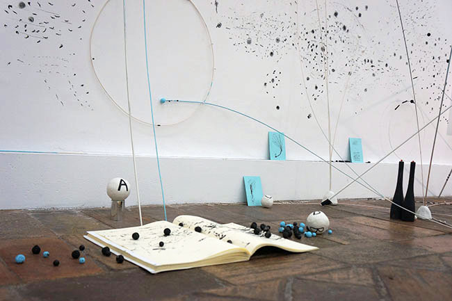 Proxemia - The Co-Creation of Space, Nikolaus Gansterer, 2015, installations views  at Gallery Marie Laure Fleisch, Rome, Italy