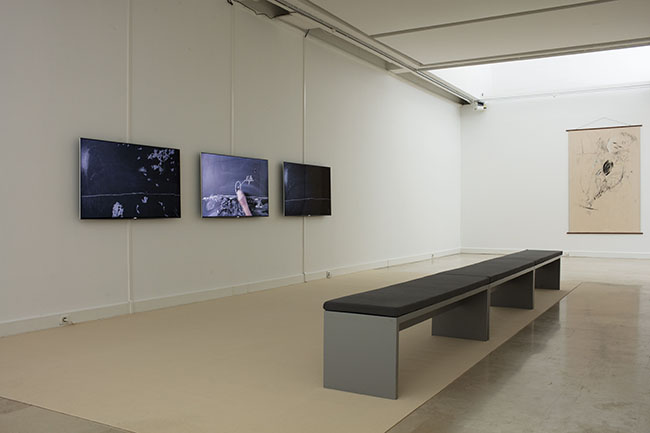 Nikolaus Gansterer, untertagüberbau, video installation view at Con-notations, Villa Arson, Nice, 2018