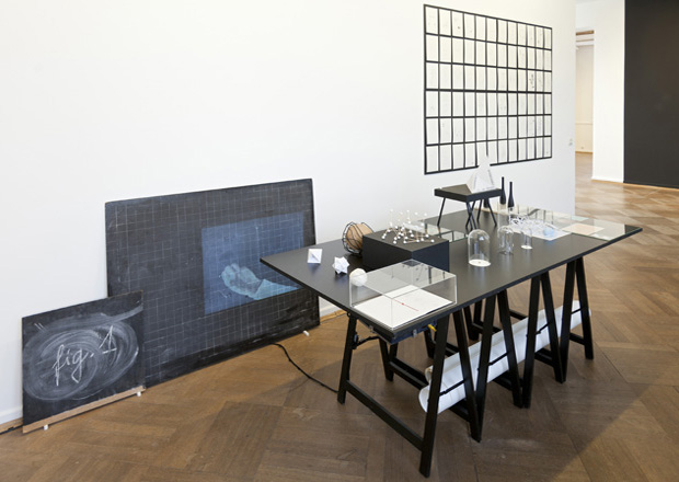 Drawing a Hypothesis, Table of contents, Installation view, Schaubilder, Kunstverein Bielefeld, 2012/13