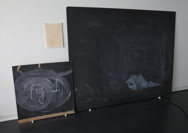  Drawing a Hypothesis, Figures of research, video projection on blackboard, 30min