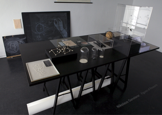 Transforming the content of the book into a table of contents, 2011, Galerie Lisi Haemmerle, Bregenz
