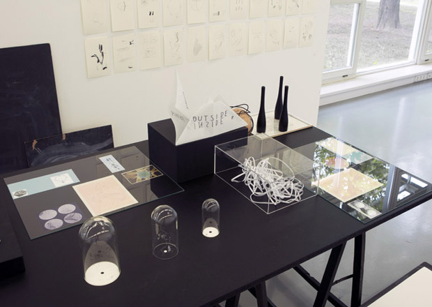 Drawing a Hypothesis, Table of contents, Installation view, Study on knowledge, Graz, 2012
