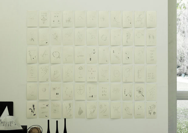 Drawing a Hypothesis, Index of figures of thought, Installation view, Study on knowledge, Graz, 2012