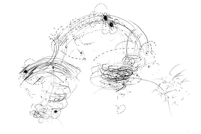 Libra - Balancing the invisible, drawing, movement studies, 2011