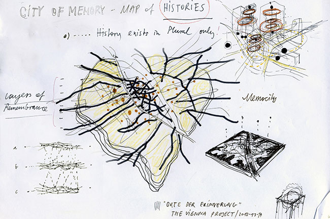 Preparatory drawings  for the Memory Map, 2013