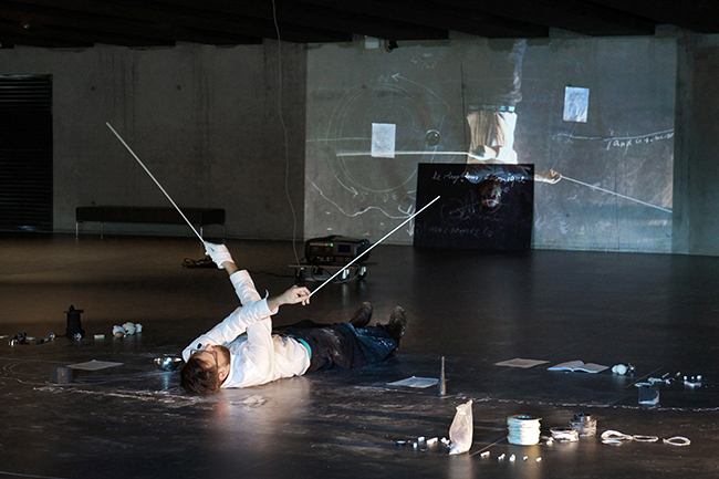 Nikolaus Gansterer, Psychoreographies, performance and installation at MUCEM Marseilles, France in 2015