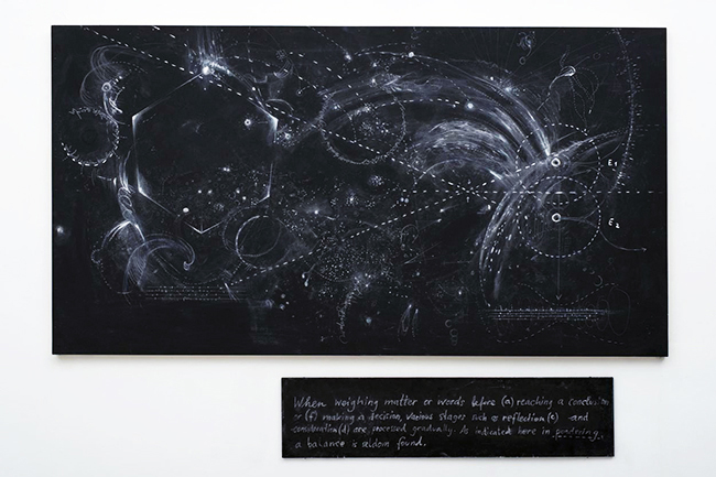 Nikolaus Gansterer, Figure of Thought, blackboard, 2013