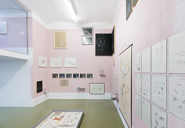 Nikolaus Gansterer, Maps of Bodying, at solo show: tracing (in)tangibles, Gallery Crone, Vienna, 2019
