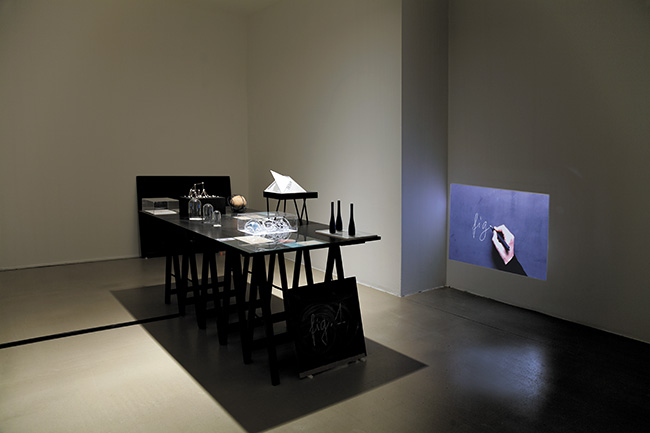 Drawing a Hypothesis, Table of contents, Installation view, 2013